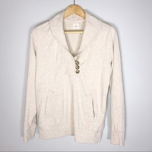 Banana Republic Factory   Luxe Pullover In Oatmeal